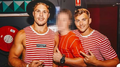 Jack De Belin and his friend Callan Sinclair were on a pre-Christmas pub crawl in Wollongong on Saturday.