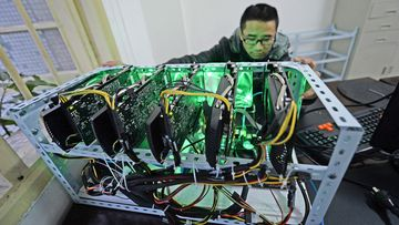 Bitcoin mining machines like this one will no longer be listed for sale on ecommerce giant Alibaba.