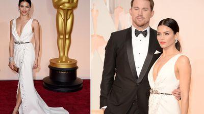 Actor Channing Tatum with wife Jenna Dewan Tatum. (Getty)