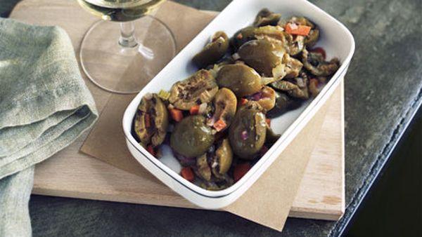 Sicilian-style olives