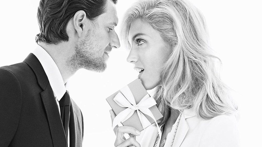 Anja Rubik and husband Sasha Knezevic are adorable in Tiffany & Co.'s holiday campaign