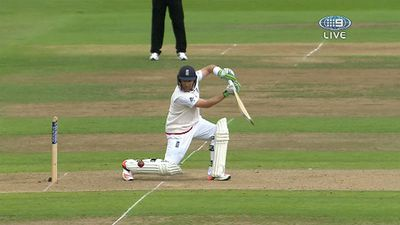 Ian Bell drives square for four