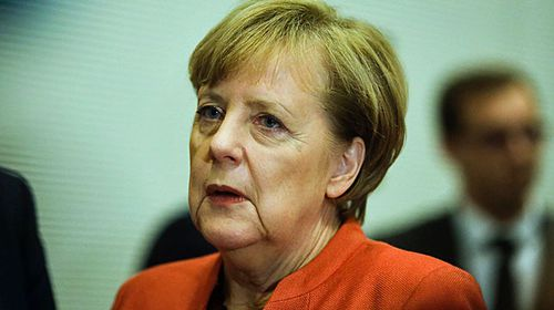German Chancellor Angela Merkel after talks with her centre-right  party to try and form a coalition government. (Photo: AP).
