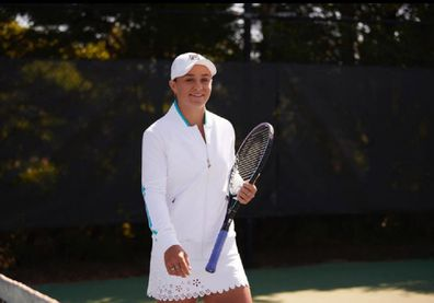 Ash Barty Fila outfit Instagram