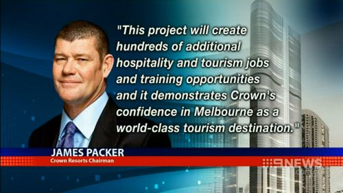 James Packer has pitched the development as a key opportunity for employment and training. (9NEWS)