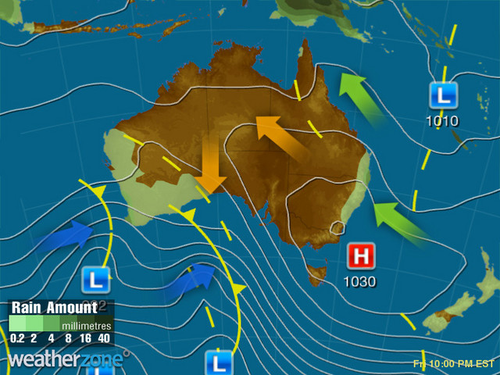 Heavy rain will hit Perth by Friday, with no relief until early next week.