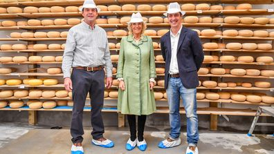 5 Camilla, Duchess of Cornwall visits The Bath Soft Cheese Company