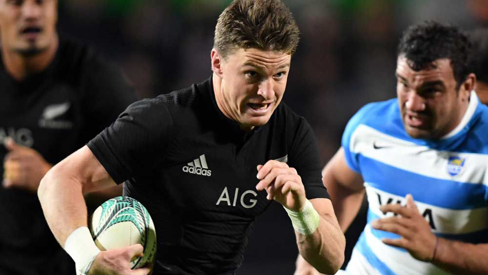 Beauden Barrett has been named World Rugby Player of the Year. (AAP)