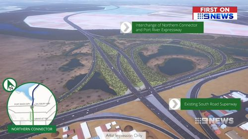 The project is set to shave up to 10 minutes from drivers' commutes. Picture: 9NEWS