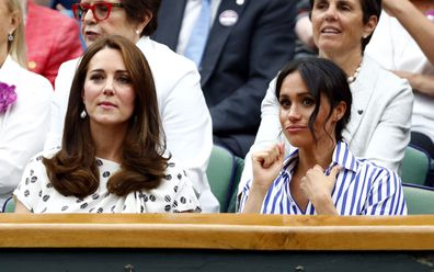The Duchess of Cambridge and the Duchess of Sussex watch friend Serena Williams at Wimbledon