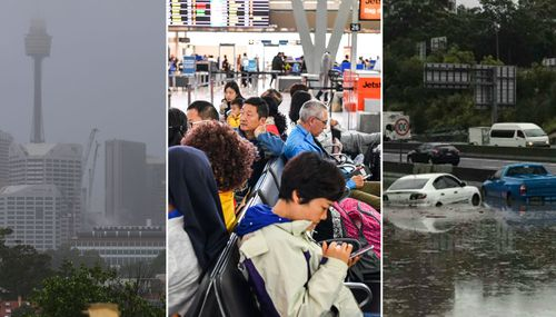 The super storm disrupted Sydney transport links including the city's airport.