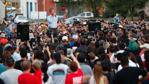 Presidential candidate Beto O'Rourke speaks at a vigil in El Paso after the massacre there.