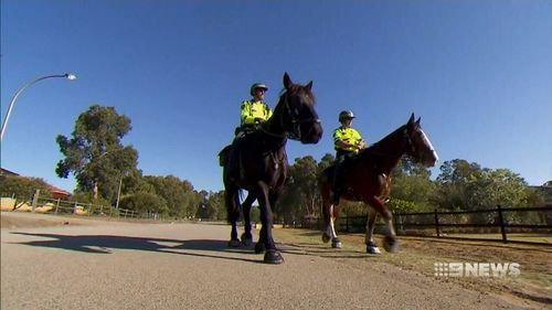 A huge search operation is underway, including volunteers on horseback and bikes. (9NEWS)