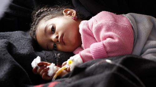 Seven million people in Yemen including many children depend on food aid for survival. (Photo: AP).