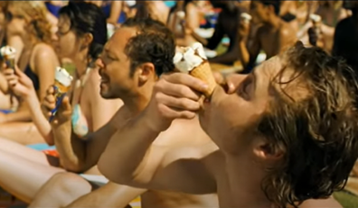 The ad features the controversial eating style embraced by Aussies.