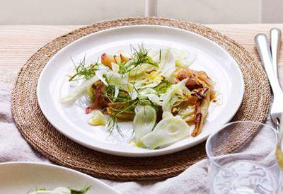Warm fennel salad