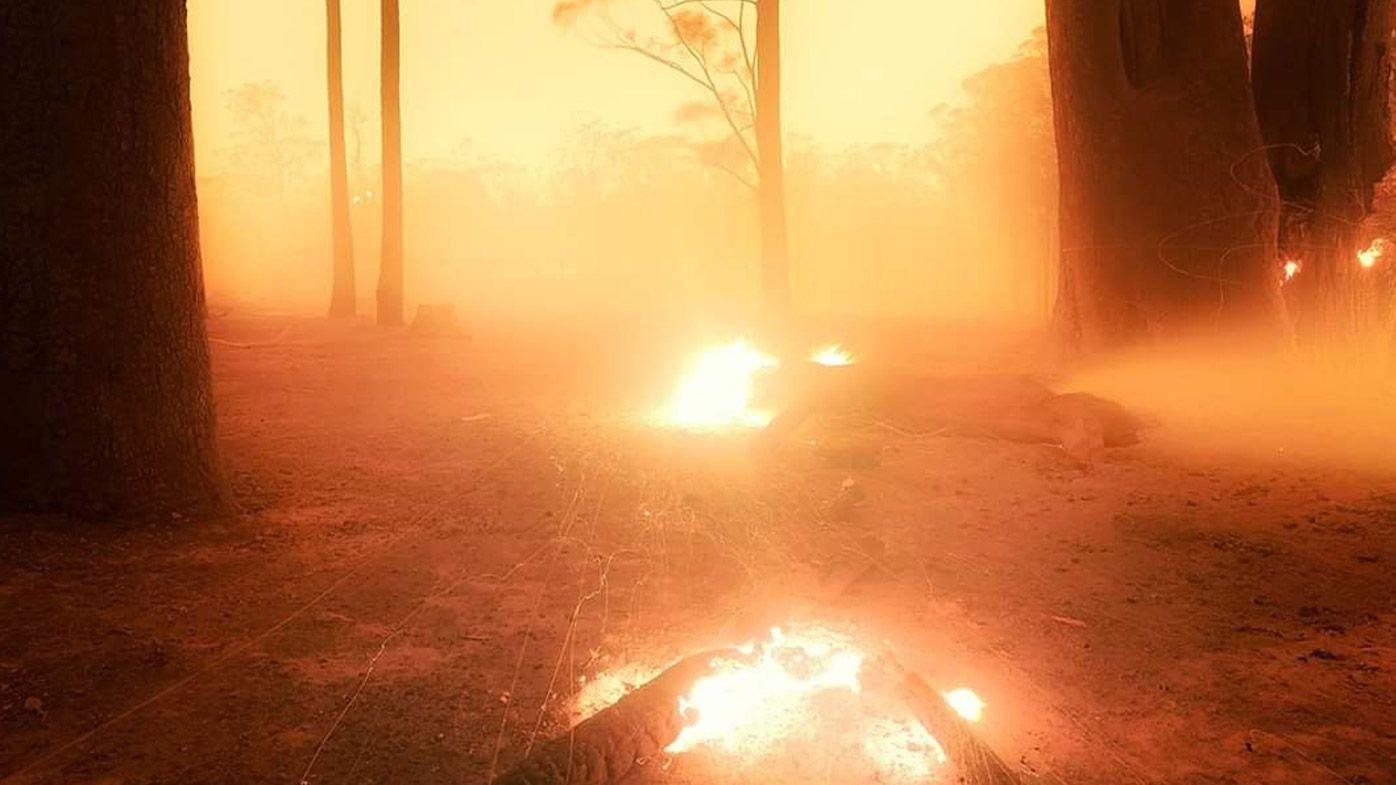 Sam Markham took this image after a firestorm tore through his south coast property.