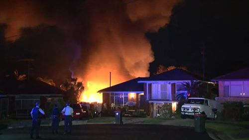 The blaze in Merrylands forced an entire street to evacuate their homes overnight.