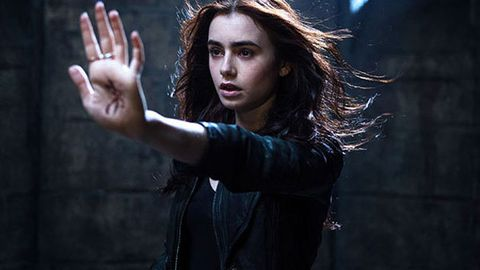 Oh so Twilight: Lily Collins goes all Kristen Stewart in Mortal Instruments trailer