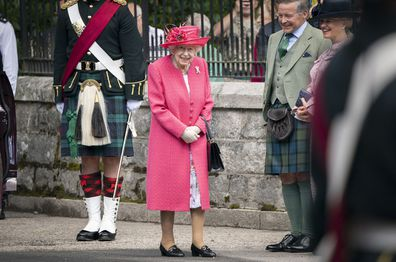 Her Majesty has taken up summer residence at the castle.