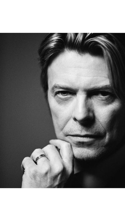 "Photographic duo Inez Van Lamsweerde and Vinoodh Matadin posted their portrait of David, captioned; ""Infinite. RIP#davidbowie kisses iv""."
