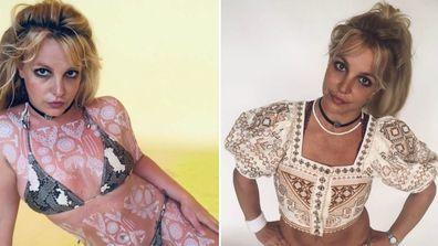 Britney Spears, bikini photo, Instagram, henna