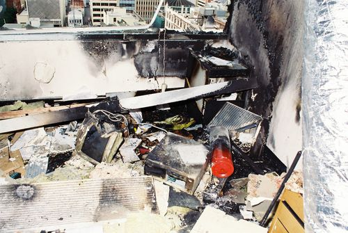 The scene of the National Crime Authority bombing in Adelaide in 1994.