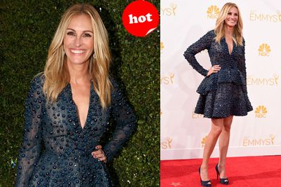 Someohow Julia Roberts makes this casual look work!