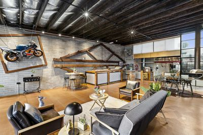 Warehouse conversion in Footscray Melbourne features Mark