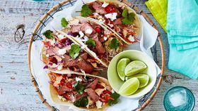 Mini beef tacos