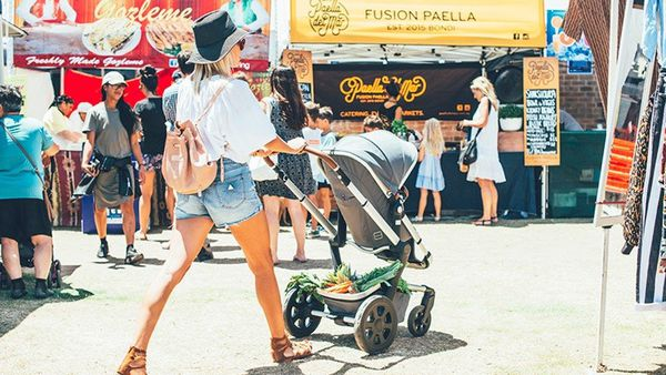 Hitting your stride: Kiri Versales @bazaarmumma and daughter Luna with the Joolz