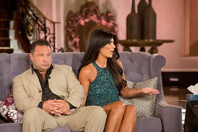 """Real Housewife of New Jersey Teresa and Joe Giudice are no strangers to scandal (more on that soon) but consistent cheating rumors have plagued this couple of fifteen years after Joe took a call from his alleged mistress during a family vacation, has been seen in strips clubs and dining out with other women.  Most recently he was snapped on a lunch date with the family nanny, getting """"cozy""""."""