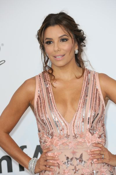 <p>Eva Longoria, 42</p> <p>For a pulled together look, pull hair back but the odd flyaway will make it look as though you're not trying too hard.&nbsp;</p>