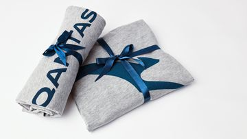 The iconic Qantas business class pyjamas will be part of the care packages on offer.