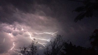 Storm activity over Auchenflower. (9NEWS / Kate Limon)