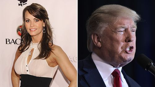 1998 Playmate of the Year Karen McDougal and US presidential candidate Donald Trump. (AFP)