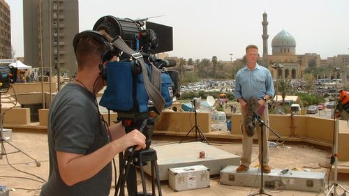 Reporting on the US invasion from Baghdad in 2003.