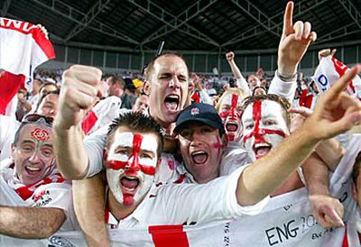 England fans celebrating (Getty)