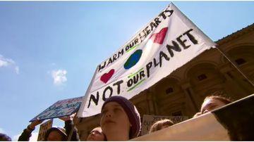 Students protest the Adani coal mine.