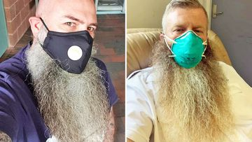 Bearded Aussies are grappling with the problem of how to wear a face mask properly.