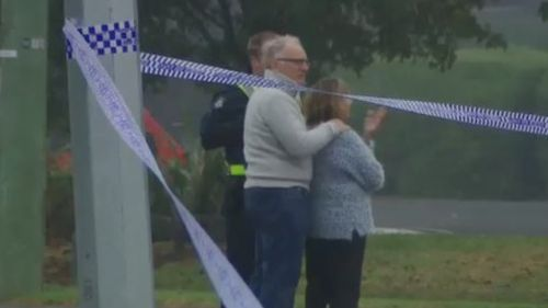 """I could tell them how, but not why"": Mr Goland's parents at the scene on the weekend. (9NEWS)"