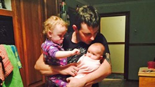 Shane McMahon with his daughter India and Evie.