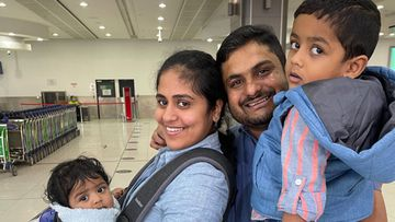 The Jose family have been reunited after two years, after their son Ephrem was stuck in India.