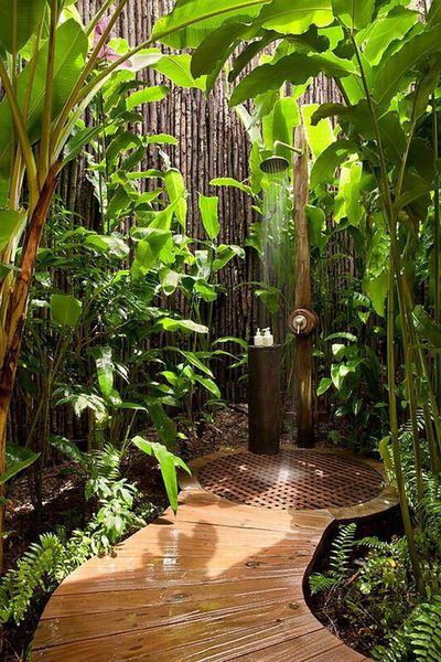 Luxury outdoor shower