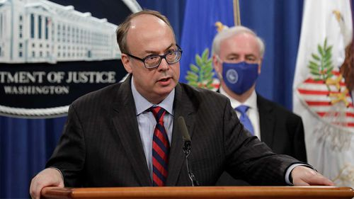 Jeffrey Clark (left) was allegedly part of a plot to oust Acting Attorney-General Jeffrey Rosen (right).