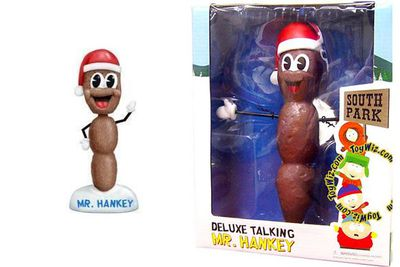 Talking Mr Hanky 'the Christmas poo' from <i>South Park</i>.<br/><br/>(Images: shop.southparkstudios.com)
