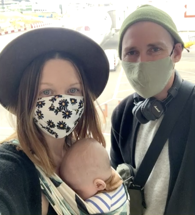 The family of three finally managed to get on a flight - and completed their quarantine in Darwin.
