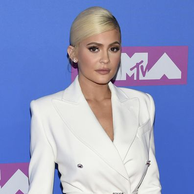 Kylie Jenner arrives at the MTV Video Music Awards at Radio City Music Hall on Monday, Aug. 20, 2018, in New York.