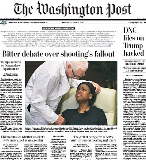 Front page of The Washington Post.
