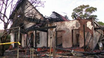 The Hunters Hill home was destroyed, with the owners away on holiday.